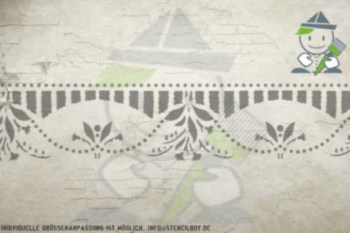 Border stencil motif 10518