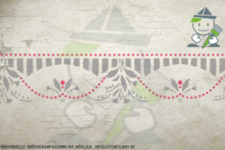 Border stencil motif 10519