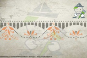 Border stencil motif 10520