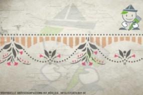 Border stencil motif 10521