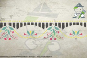 Border stencil motif 10522