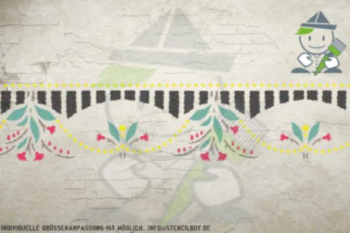 Wandschablone Motiv 10522