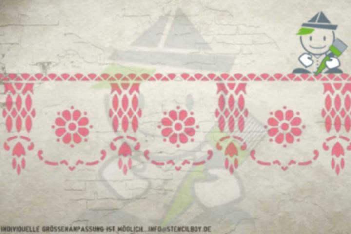Border stencil motif 10523
