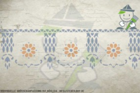 Border stencil motif 10524