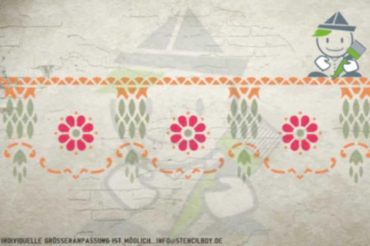 Border stencil motif 10525