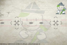 Wandschablone Motiv 10526