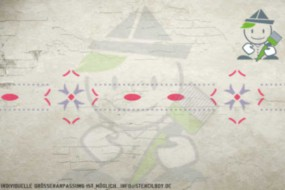 Wandschablone Motiv 10527