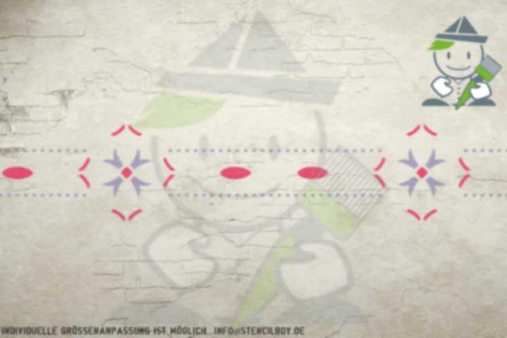 Border stencil motif 10527