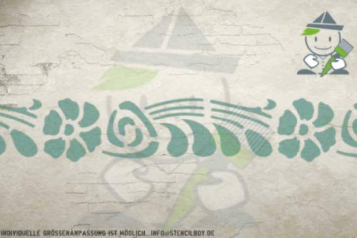 Border stencil motif 10528