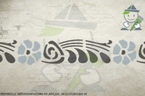 Border stencil motif 10529
