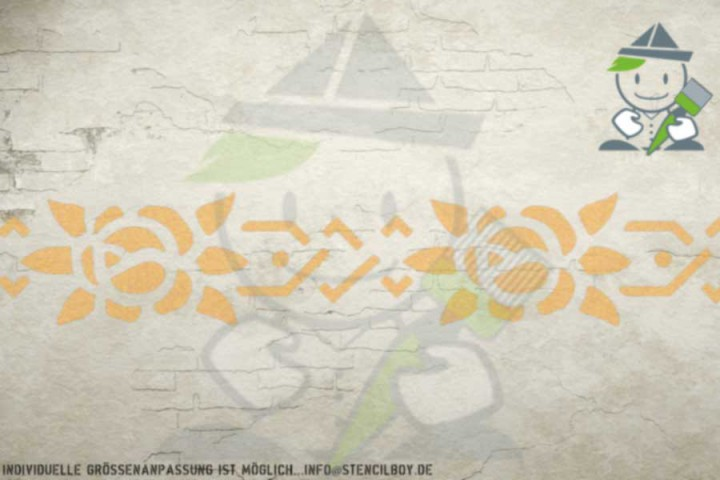 Border stencil motif 10531