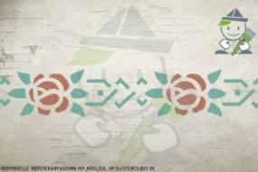 Border stencil motif 10532