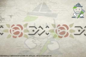 Border stencil motif 10533