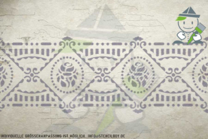 Border stencil motif 10534