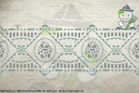 Border stencil motif 10535
