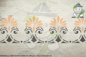 Border stencil motif 10538