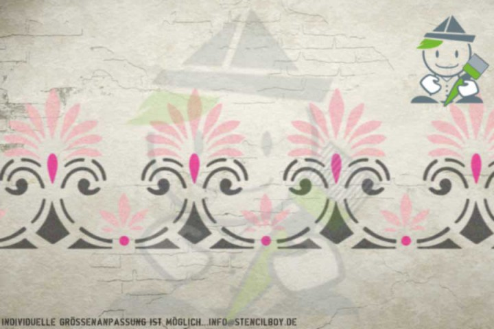 Border stencil motif 10539