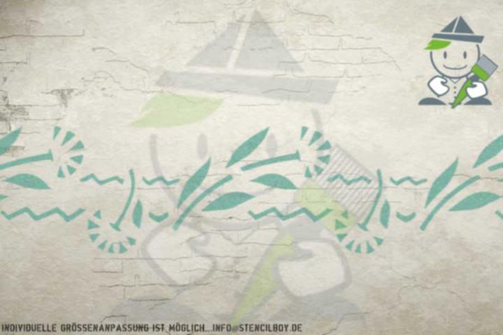 Border stencil motif 10541