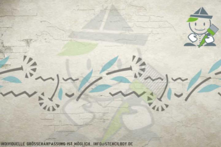 Border stencil motif 10542