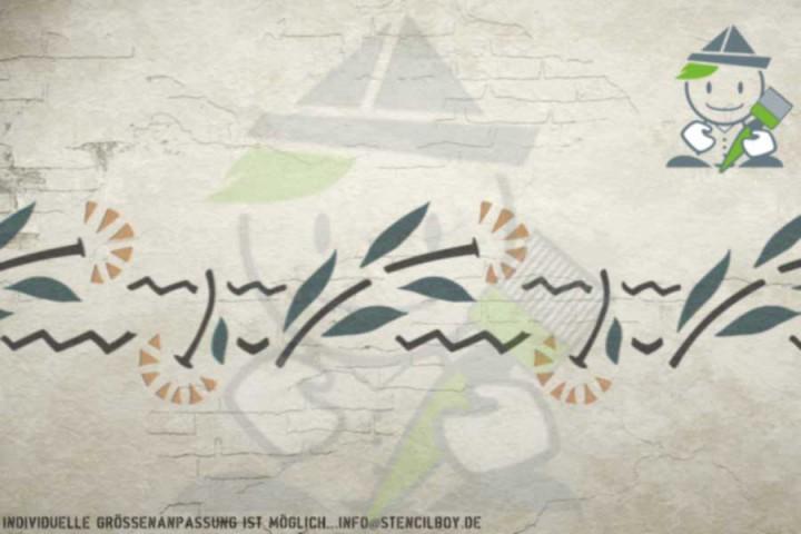 Border stencil motif 10543