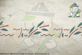 Border stencil motif 10544
