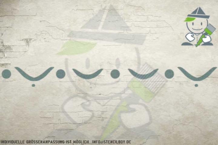 Border stencil motif 10547