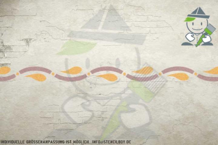 Border stencil motif 10554