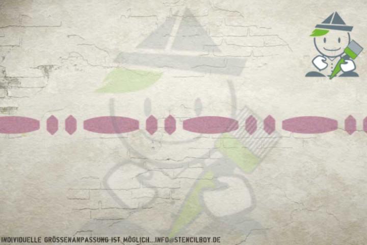 Border stencil motif 10556