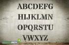 Buchstabenschablone Font DO