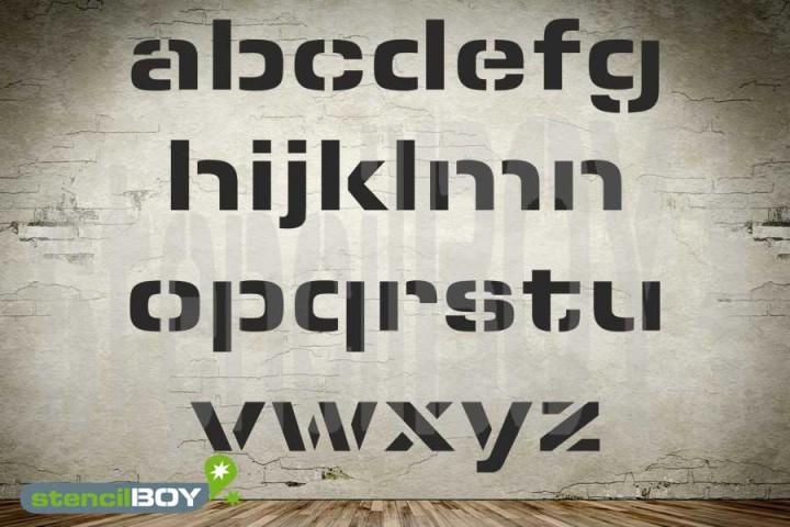 100mm Kleinbuchstabenschablonen Font ESS mit Sprühnebelschutz