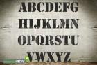 200mm Buchstabenschablonen Font ST mit Sprühnebelschutz