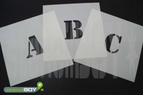 100mm Buchstabenschablonen Font ST mit Sprühnebelschutz