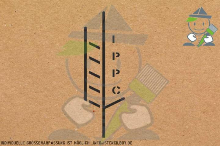 IPPC-Logo Kunststoffschablone