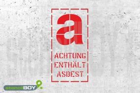 """""""Achtung enthält Asbest"""" Gefahrenkennzeichen-Schablone"""