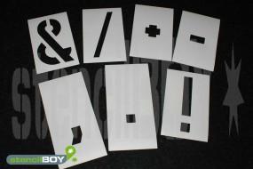 einzelne Zeichen Magnetschablone nach DIN 1451
