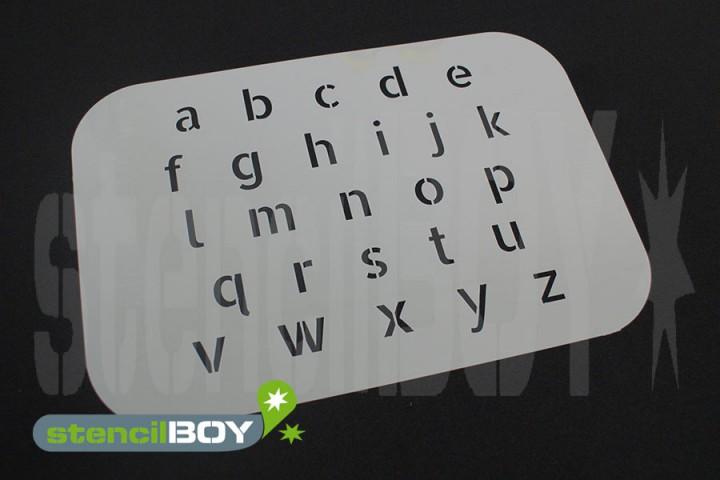 Kleinbuchstabenschablone Font AL