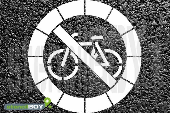 Fahrradfahren verboten - Radfahren verboten Kunststoffschablone