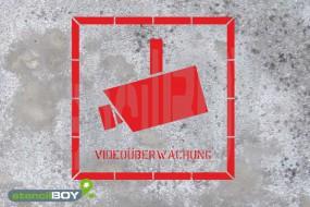 Videoüberwachung - Schablone