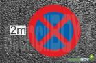 2000mm HALTEVERBOT XXXL Bodenmarkierungs-Schablonenset