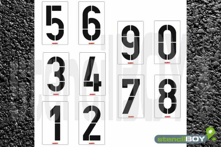 1000mm XXL-Zahlenschablonen Set 0-9 nach DIN 1451
