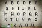 AKTION Buchstabenschablonen Set A-Z in Font HS mit Sprühnebelschutz (0,5mm PET Kunststoff)