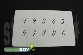 Zahlenschablone Schriftart RA