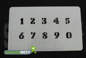 Zahlenschablone Schriftart SE