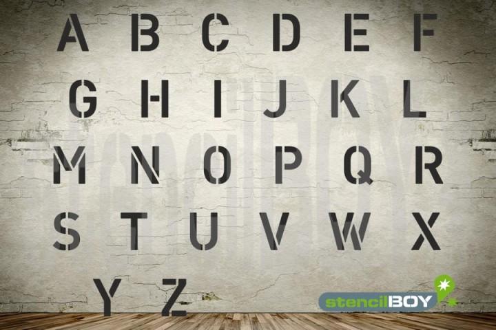 Buchstaben-Steckschablonen A-Z in Hausschrift HS