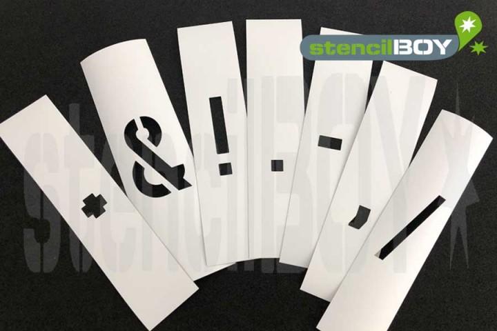 einzelne Zeichen Magnetschablone nach DIN 1451 mit Sprühnebelschutz