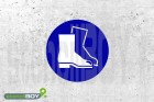"""Schablone """"Fußschutz benutzen"""""""