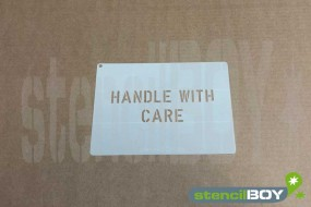 "Textschablone ""Handle with Care"""