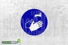 """Schablone """"Hände waschen"""""""
