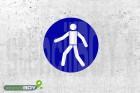 """Schablone """"Fußgängerweg benutzen"""""""