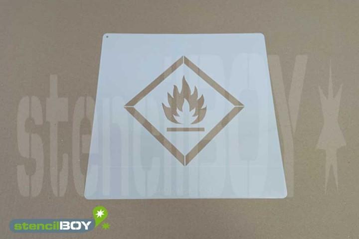 """GHS 02 """"Flamme"""" Kunststoffschablone"""